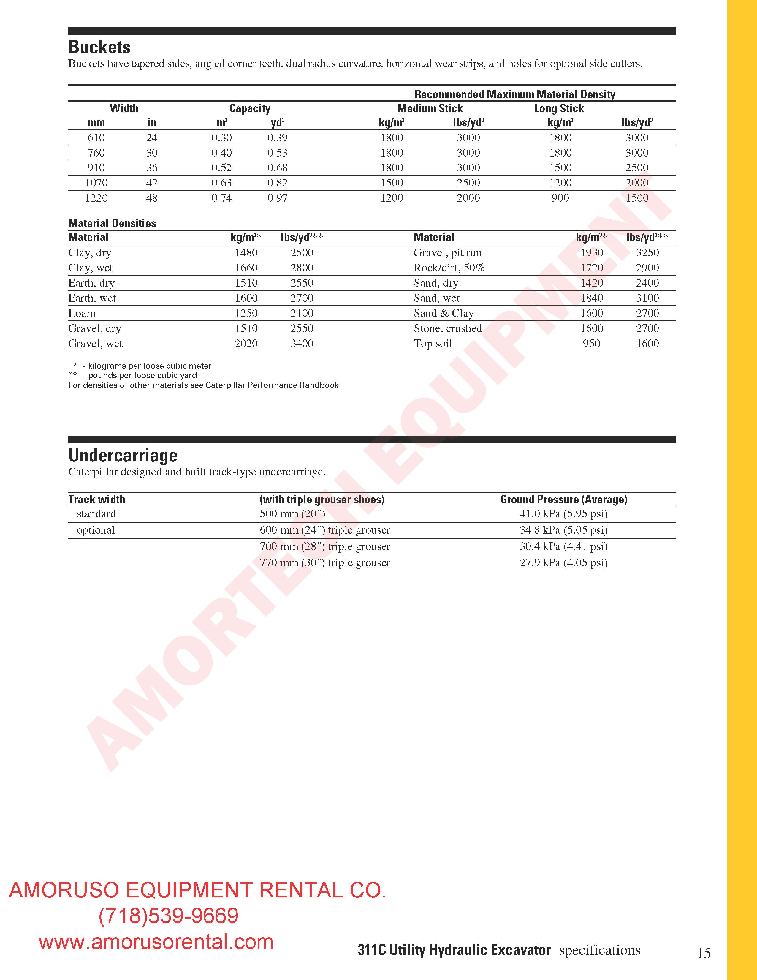 CAT 311CU Track (Compact Radius)