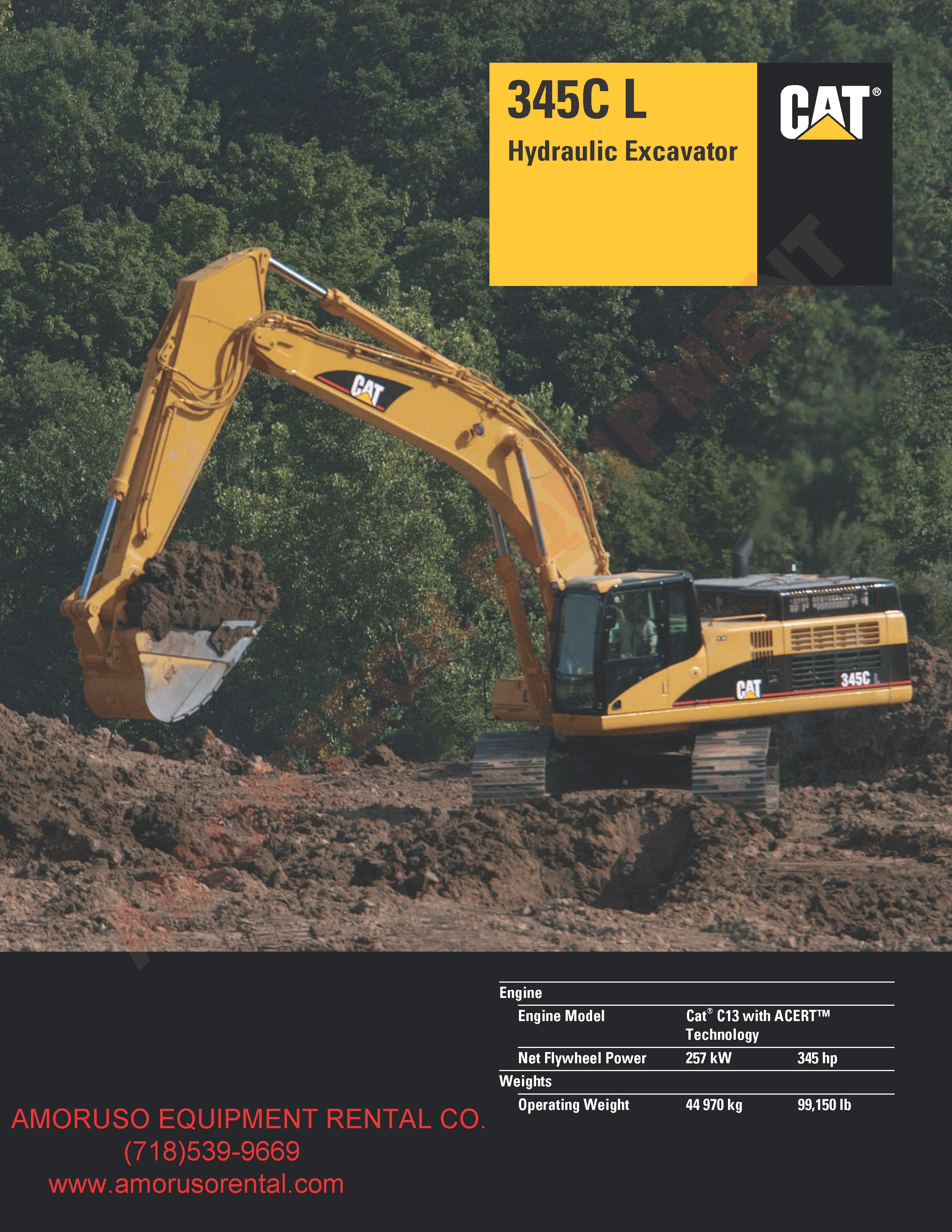 CAT 345CL Track Excavator 345hp /99,150lb