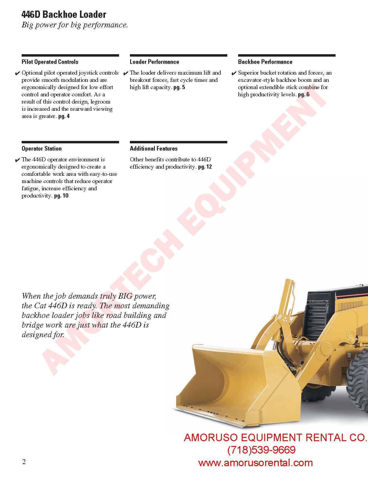 CAT 446B 4WD Loader/Backhoe 102hp / 19603 48lb