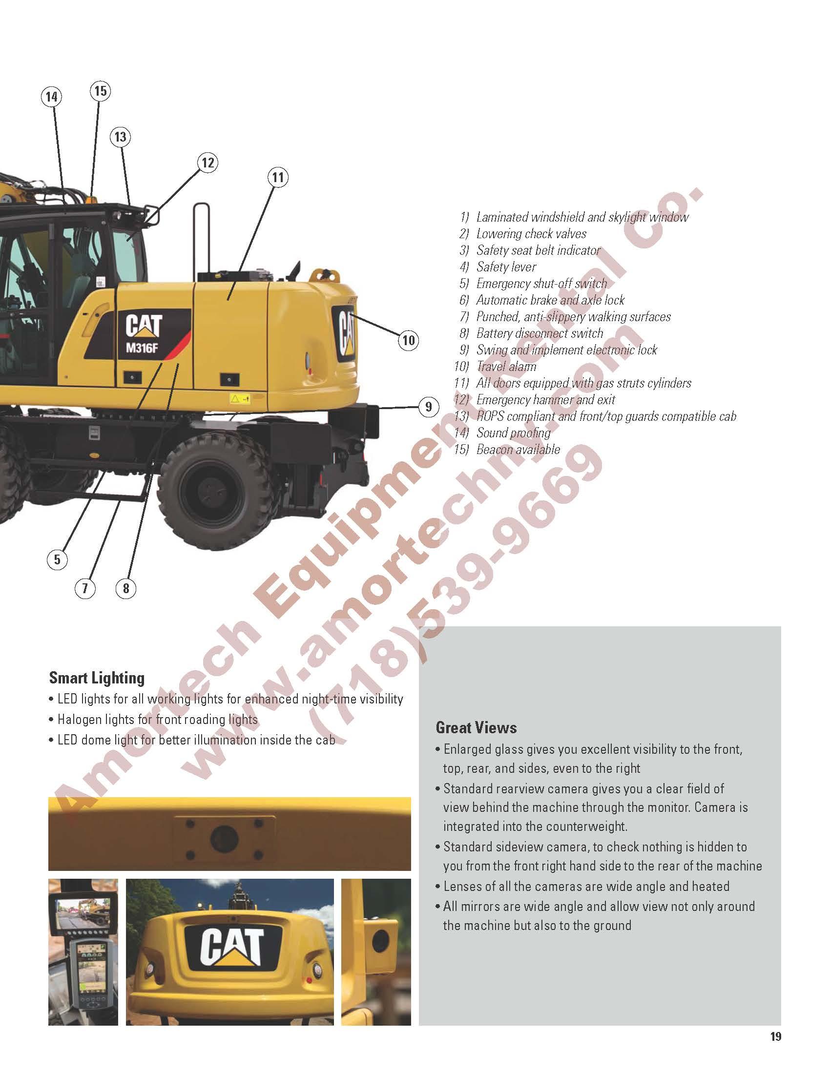 Cat M316f Rubber Tire Excavator 4wd