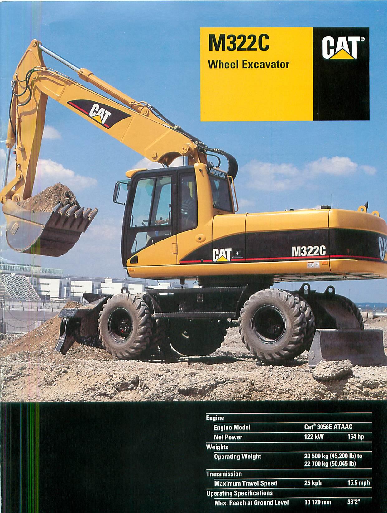 Cat M322c Rubber Tire Excavator 4wd